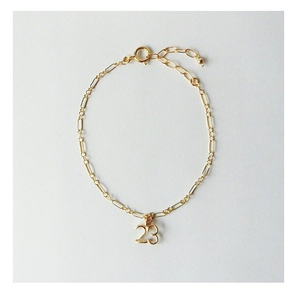 Number (number) 2 digit chain bracelet