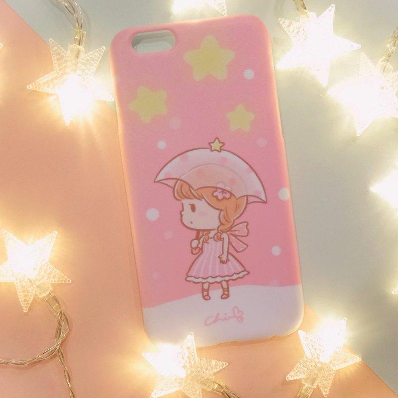 Starlight meets the mobile phone shell girl models / ChiaBB Matte matte hard shell Iphone SAMSUNG