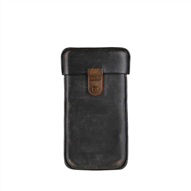 [HANDOS] Vintage Classic Washed Leather iPhone Case