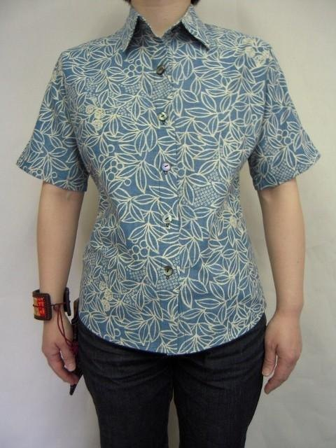 Ladies Japanese pattern shirt (mountain cherry pattern)