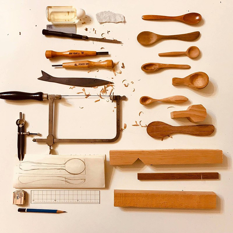 [Group of 1] This is the studio-making old wooden food utensils / Hsinchu City