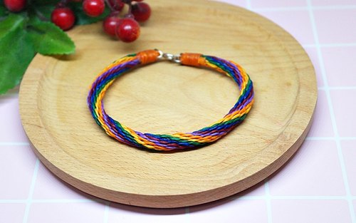 Thai silk wax line - Anklet - <Colorful Wall> //Optional color
