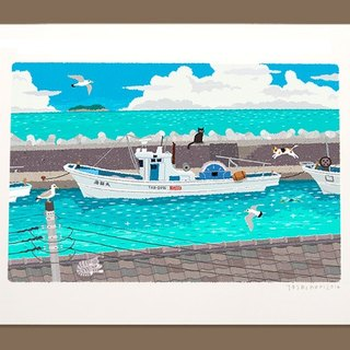 Taberneck Illustration Print (A3 size) | 22. Summer Embankment | Art Posters