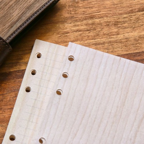 Embroidered wood grain loose paper (A5 six holes)