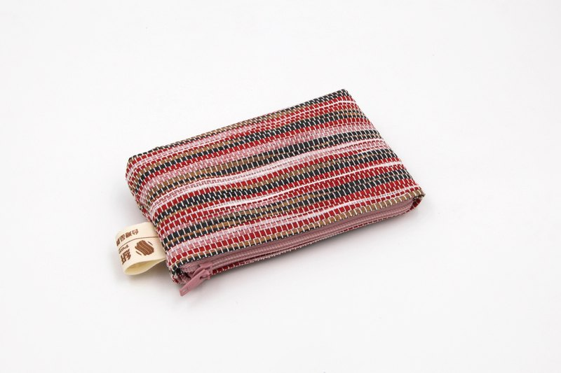 [Paper cloth home] paper line woven coin purse ripple red