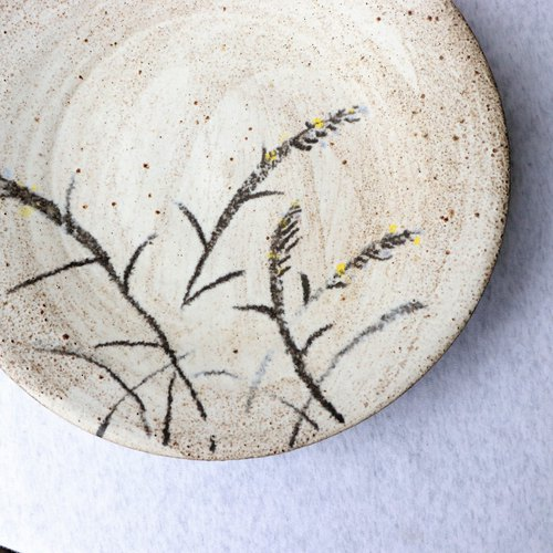 Firewood grass iron painted plate