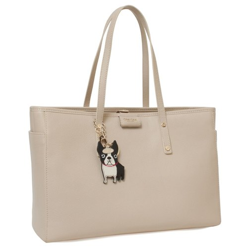 Boston Terrier Key-Ring Leather Tote Bag