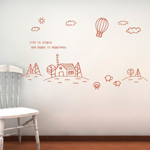 Smart Design Creative wall stickers ◆ countryside incognito afternoon (8 colors)