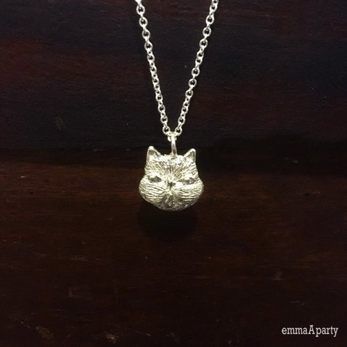 EmmaAparty handmade sterling silver necklace '' grandson cat ''