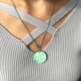 【Lost And Find】Natural labradorite Pentacle necklace