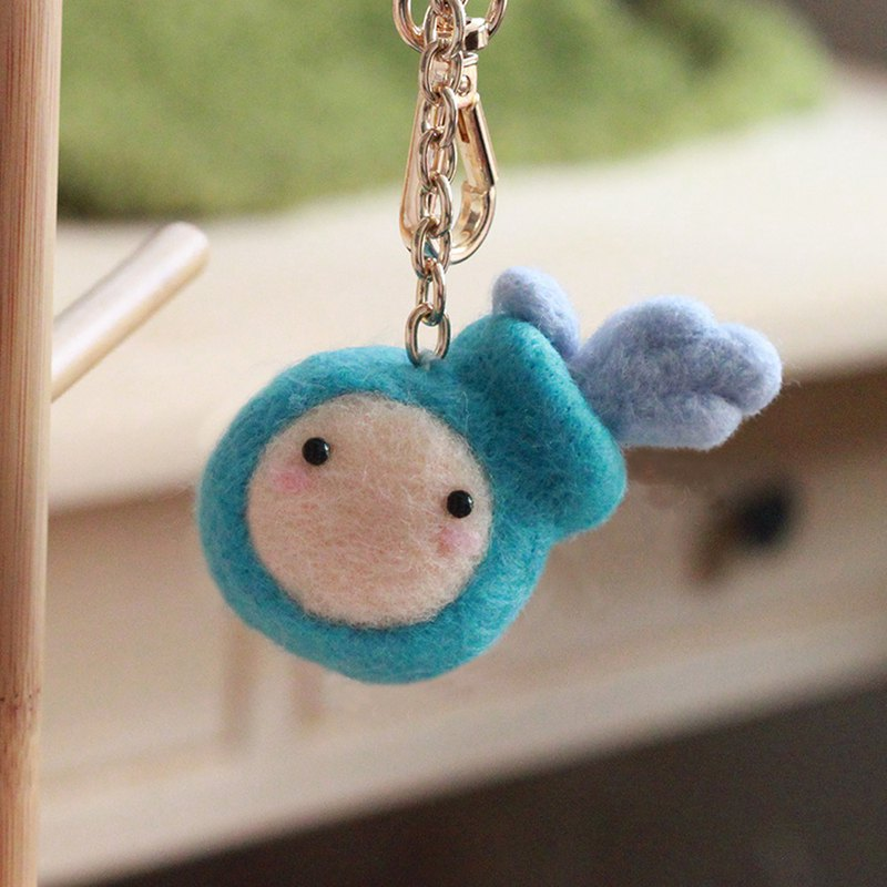 Tianmaxing Aquarius Wool Felt Key Ring New Year Gift (with video teaching)