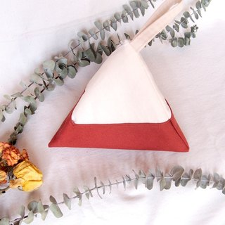 Earth tone- dried roses Geometric Triangle Purse (M)