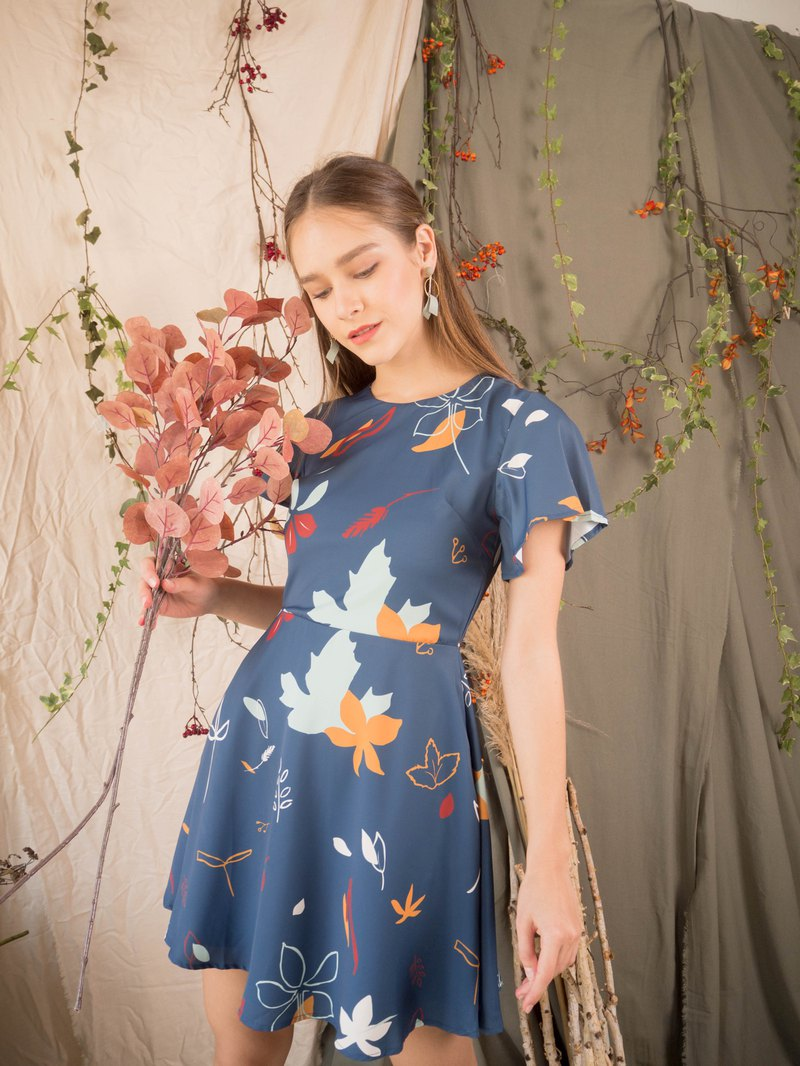 Autumn Swing Dress (Blue)
