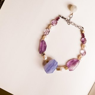 [Love] purple hand made natural stone bracelet
