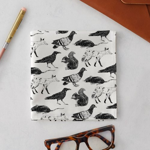 LONDON WILDLIFE HANDKERCHIEF & POCKET SQUARE
