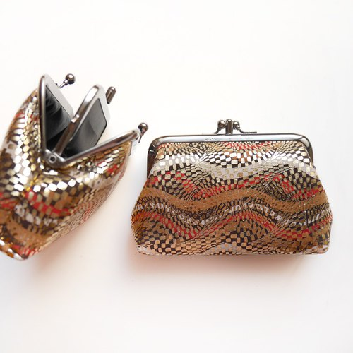 趴趴趴 two grid purse / gold package [made in Taiwan]