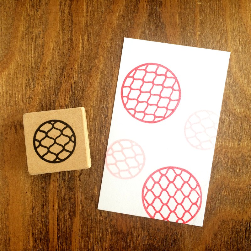 Easy to use round Japanese pattern petit eraser rubber (mesh)