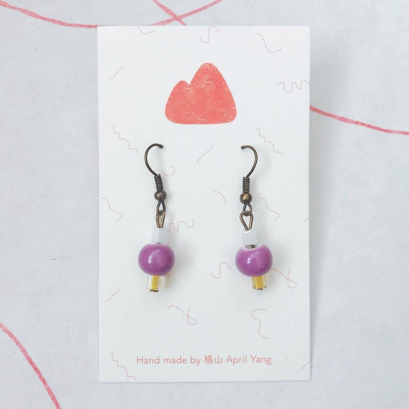 ︴ lavender ice cream ︴ needle / clip earrings