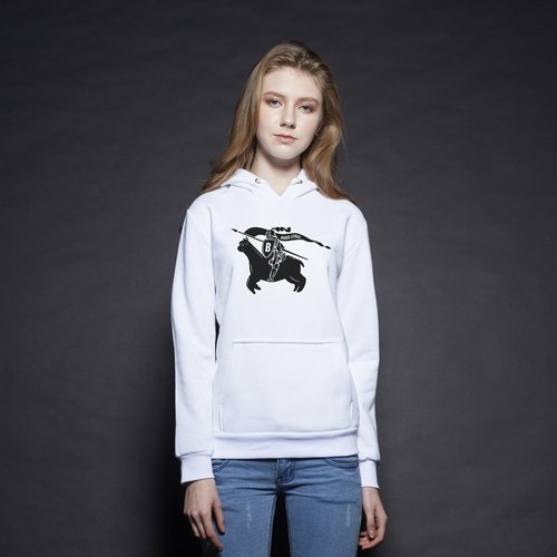 British Fashion Brand [Baker Street] Alpaca Knight Printed Hoodie