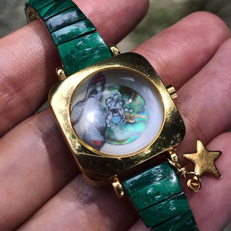 【Lost And Find】Natural  galaxy star Lazurite watch