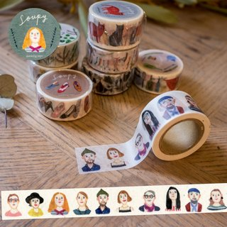 Fashion people masking tape