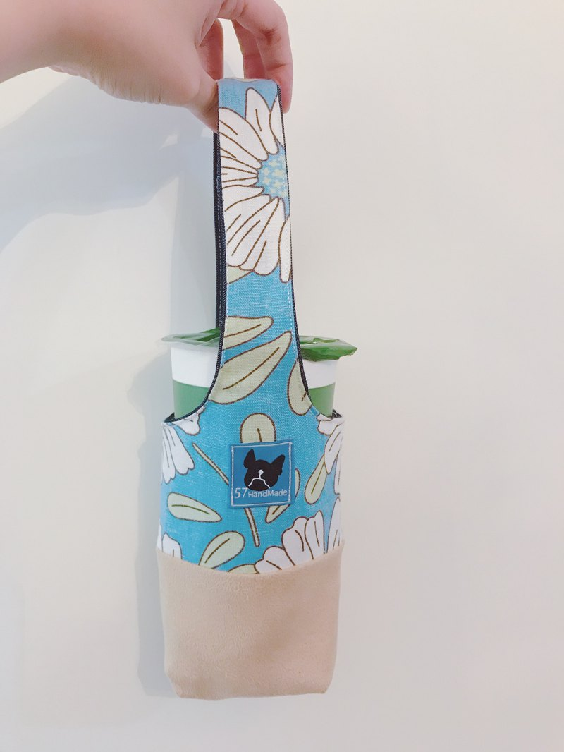 Beverage Cup Bag - Flower