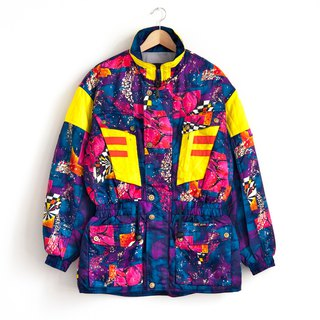 Vintage color splash ski coat vintage jacket