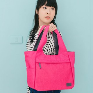 deep pink shoulder bag,sport bag, gym bag