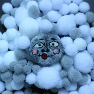 So can not laugh small ugly baby wool felt brooch
