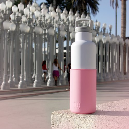 CinCin White Rose Pink 20 OZ, Stainless Steel Water Bottle