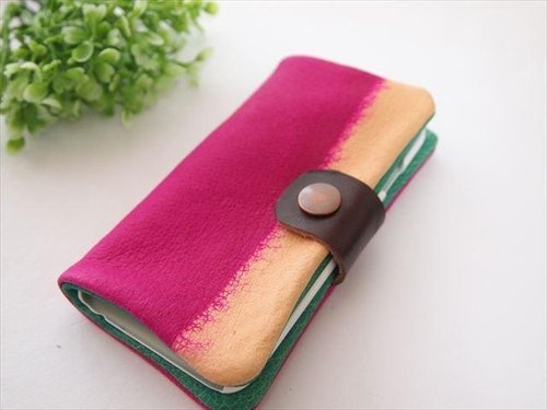 [Pig leather soft i phone 6 cover multi-color leather smartphone case 1531008