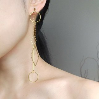 E074 this season - brass earrings