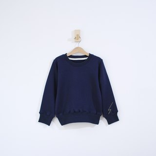 Children's lightning line cuffs thick cotton long-sleeved shirt parent-child clothing - Zhang Qing