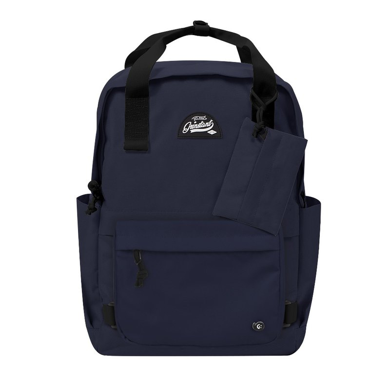 Grinstant Mix and Match Removable 15.6-inch Backpack-Adventure Series (Dark Blue)