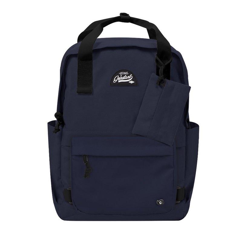 Grinstant混搭可拆組式15.6吋後背包 - 冒險系列 (深藍色)