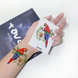 TU tattoo sticker - macaw / tattoos / waterproof tattoo / Original /tattoo sticker