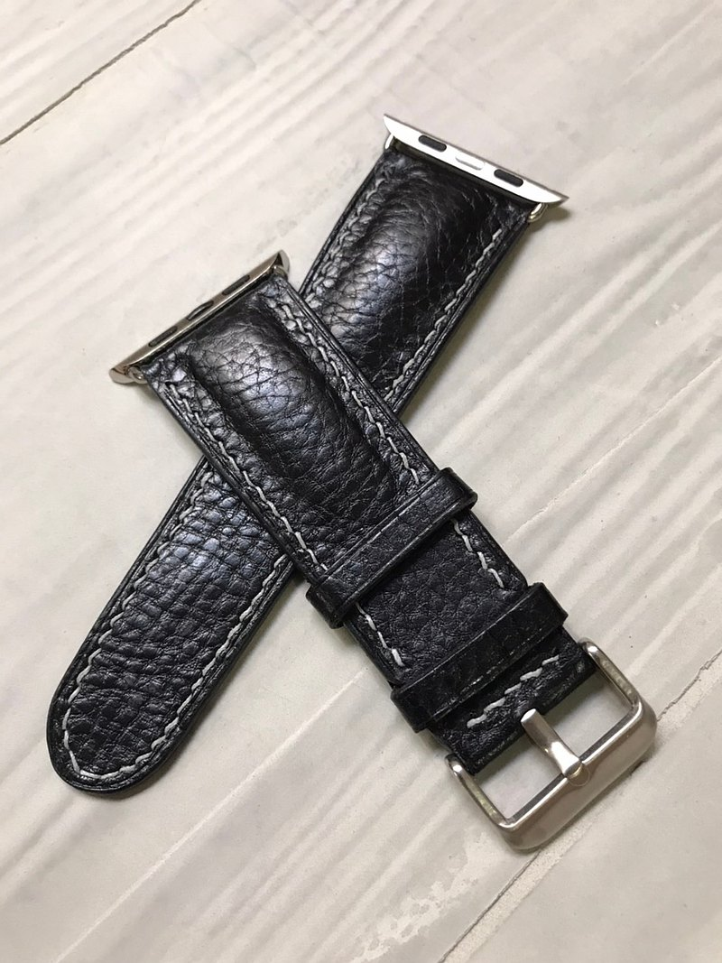 Apple watch leather hand-sewn strap 42 / 44mm (half-drum)