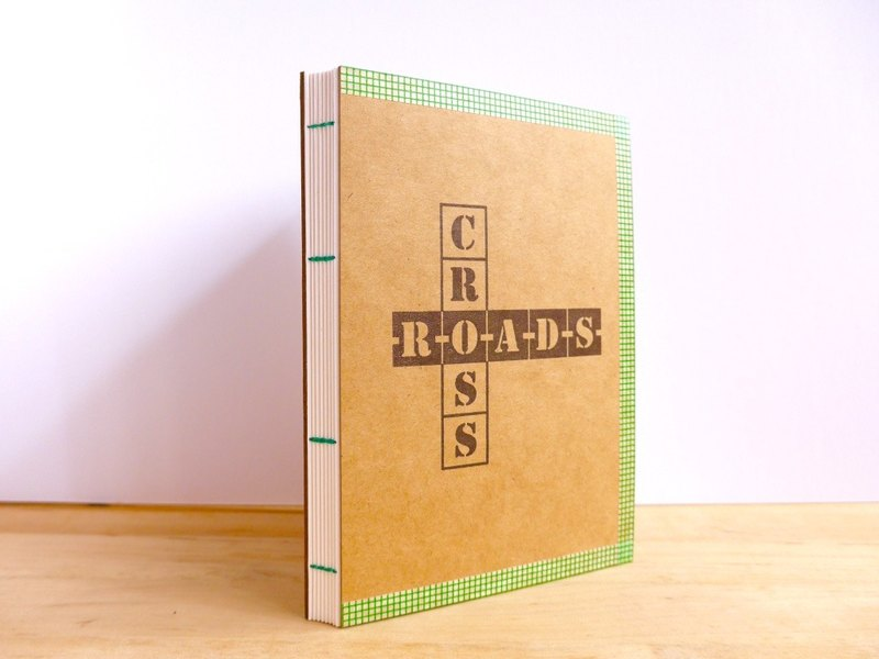 Handmade A6 Notebook - Crossroads (手工缝制小本子 - 路叉)