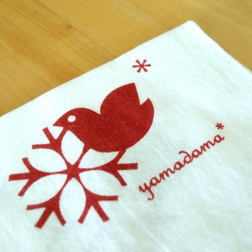 Bird pattern print - towel yamadama original