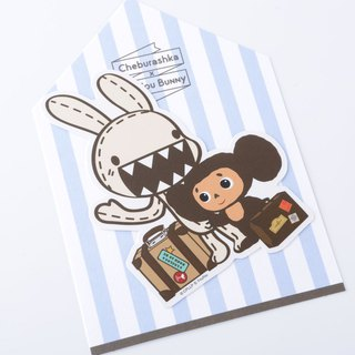 Big ears zabu waterproof stickers - travel together