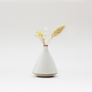 Handmade ceramic white mini flower - hill