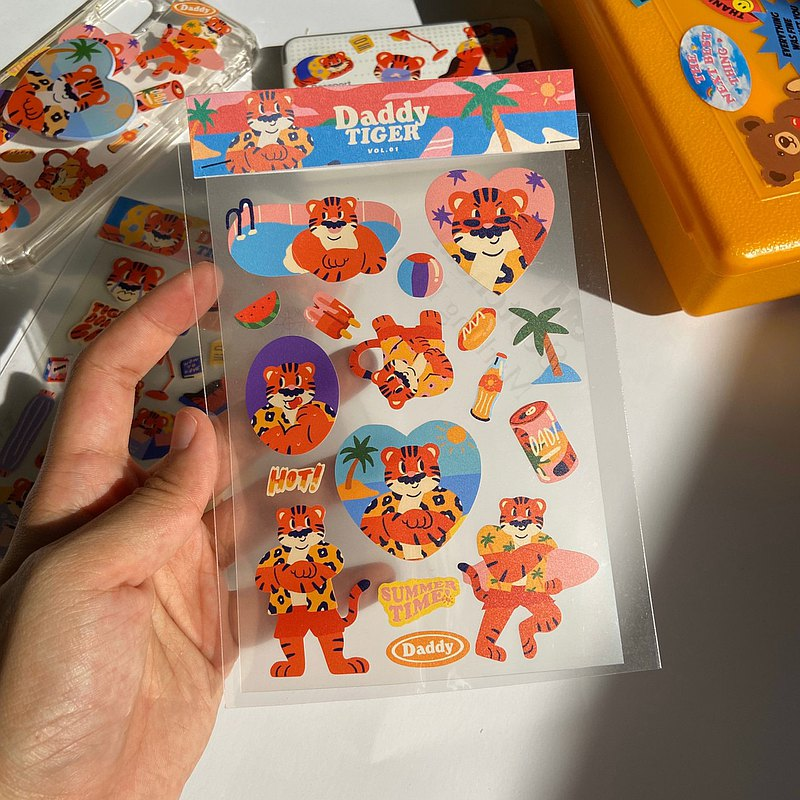 Daddy Tiger Sticker Vol.1