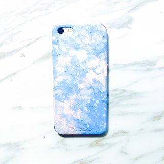 Wonderland Series ll Rose Powder Tranquil Blue ll Hand-painted oil painting phone case