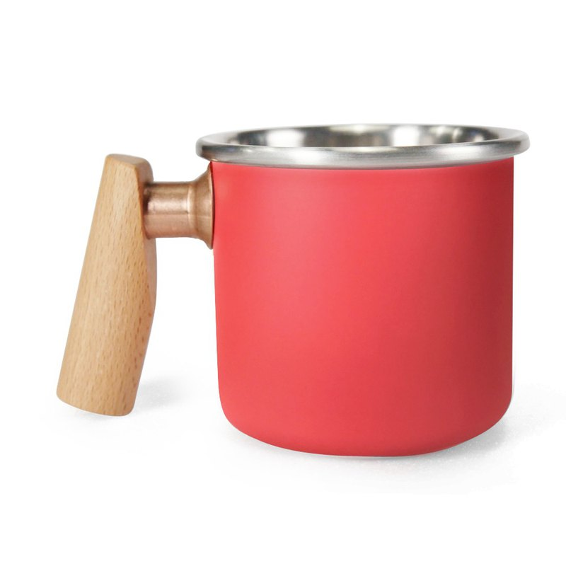 400ml (rouge) Valentine's Day gift with wooden handle