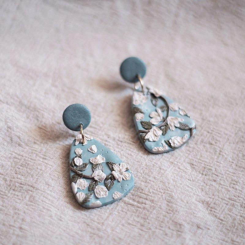 Blossom 軟陶耳環