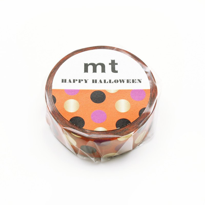 mt Halloween Masking Tape【Halloween Dot (MTHALL12)】