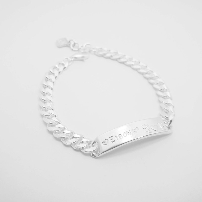 Z42 (can be typed) 925 sterling silver bracelet. Constellation symbol. Customized English alphanumeric.