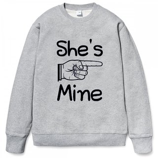 She's Mine University T bristles neutral version 2 color She is my Valentine's Day Tanabata gift lover art design text wedding