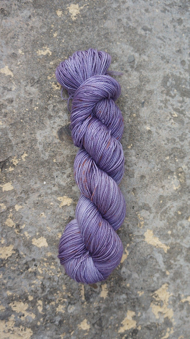 Hand-dyed line. Sparks purple