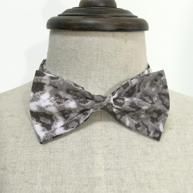 Gradient gray leopard animal pattern series of hand-tie Bow Tie shooting performance props